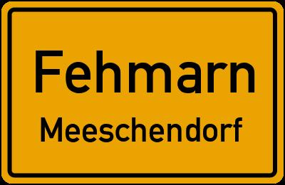 Ortsschild Fehmarn Meeschendorf