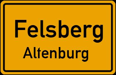 Ortsschild Felsberg Altenburg