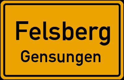 Ortsschild Felsberg Gensungen