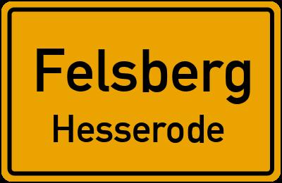 Ortsschild Felsberg Hesserode