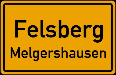 Ortsschild Felsberg Melgershausen