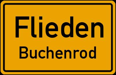 Ortsschild Flieden Buchenrod