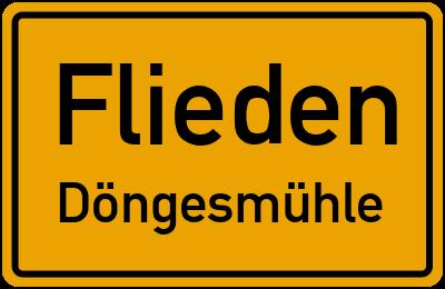 Ortsschild Flieden Döngesmühle