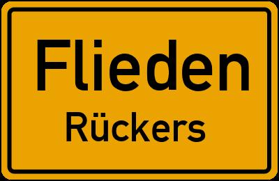 Ortsschild Flieden Rückers