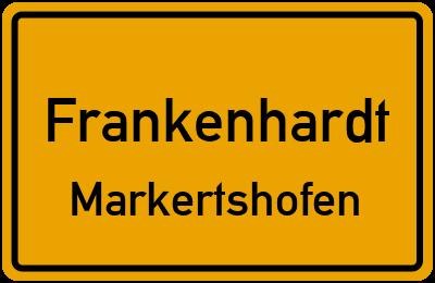 Ortsschild Frankenhardt Markertshofen