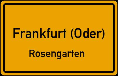 Amselweg in Frankfurt (Oder)Rosengarten