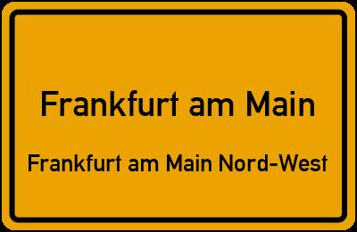 Bendelgasse in Frankfurt am MainFrankfurt am Main Nord-West