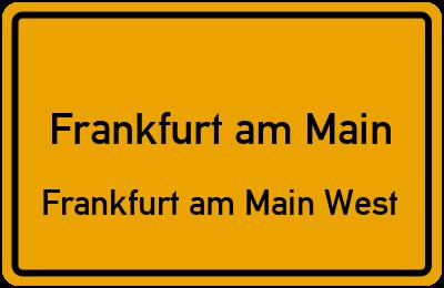 Grasmückenweg in Frankfurt am MainFrankfurt am Main West
