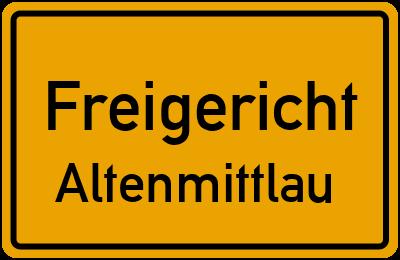 Ortsschild Freigericht Altenmittlau