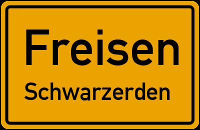 Ortsschild Freisen Schwarzerden