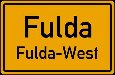 Ortsschild Fulda Fulda-West