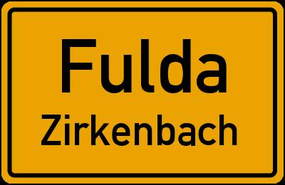 Ortsschild Fulda Zirkenbach
