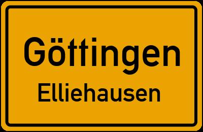 Straßenverzeichnis Göttingen Elliehausen