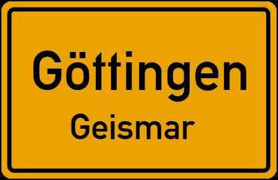Straßenverzeichnis Göttingen Geismar