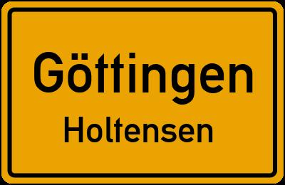 Straßenverzeichnis Göttingen Holtensen