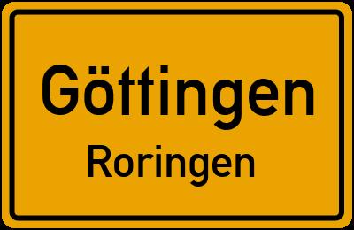 Straßenverzeichnis Göttingen Roringen