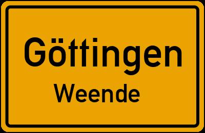 Straßenverzeichnis Göttingen Weende