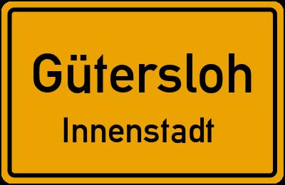 Ortsschild Gütersloh Innenstadt