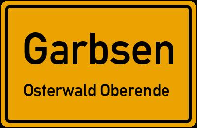 Straßenverzeichnis Garbsen Osterwald Oberende