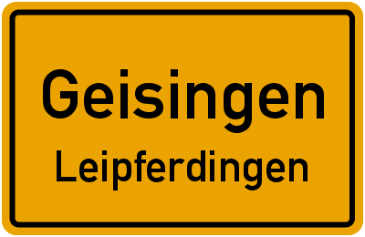 K 5923 Geisingen Leipferdingen
