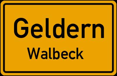 Kastellweg in GeldernWalbeck