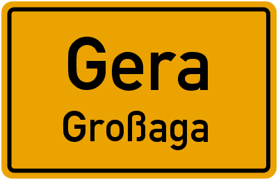 Hainstraße in GeraGroßaga