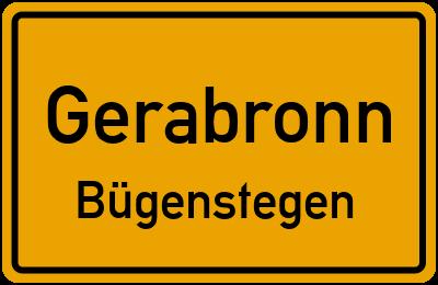 Ortsschild Gerabronn Bügenstegen