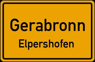 Ortsschild Gerabronn Elpershofen