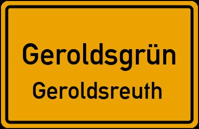 Ortsschild Geroldsgrün Geroldsreuth