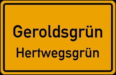Straßenverzeichnis Geroldsgrün Hertwegsgrün