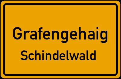 Ortsschild Grafengehaig Schindelwald