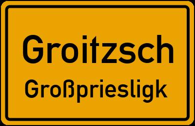 Pereser Straße Groitzsch Großpriesligk