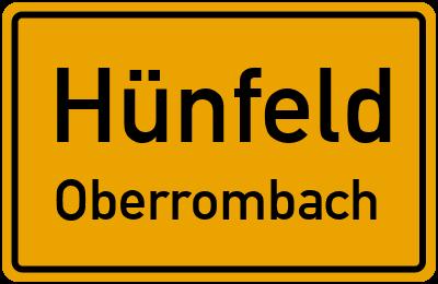 Forsthausstraße in HünfeldOberrombach