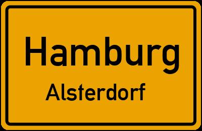 Ortsschild Hamburg Alsterdorf