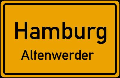 Ortsschild Hamburg Altenwerder