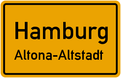 Ortsschild Hamburg Altona-Altstadt