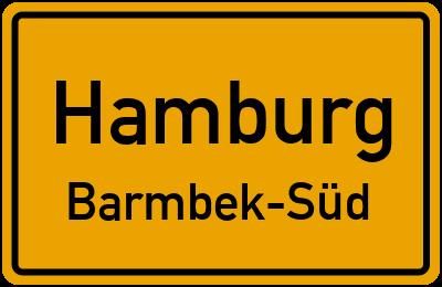 Ortsschild Hamburg Barmbek-Süd