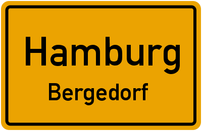 Ortsschild Hamburg Bergedorf
