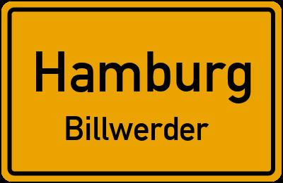 Ortsschild Hamburg Billwerder