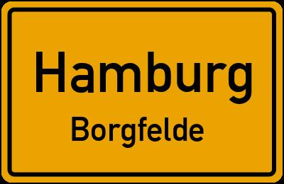 Ortsschild Hamburg Borgfelde