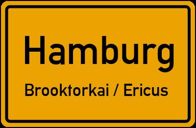 Straßenverzeichnis Hamburg Brooktorkai / Ericus