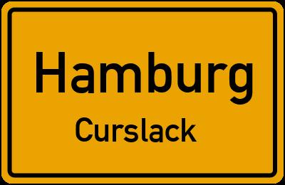 Ortsschild Hamburg Curslack