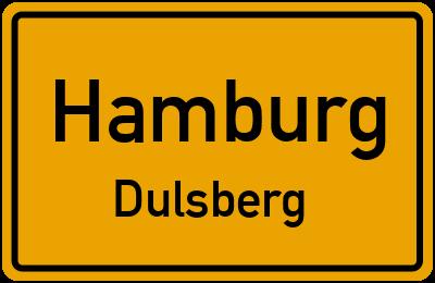 Ortsschild Hamburg Dulsberg