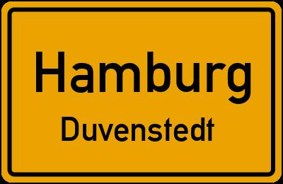 Ortsschild Hamburg Duvenstedt