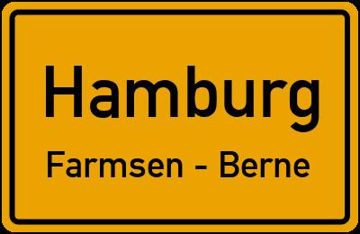 Straßenverzeichnis Hamburg Farmsen - Berne