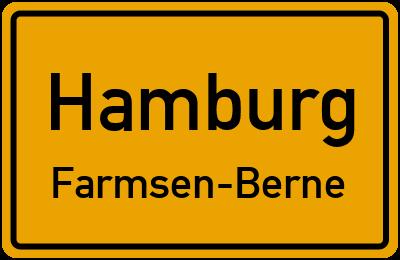 Ortsschild Hamburg Farmsen-Berne