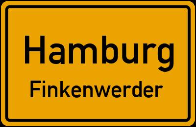 Ortsschild Hamburg Finkenwerder
