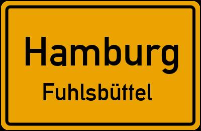 Ortsschild Hamburg Fuhlsbüttel