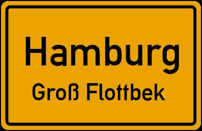 Ortsschild Hamburg Groß Flottbek