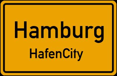 Ortsschild Hamburg HafenCity